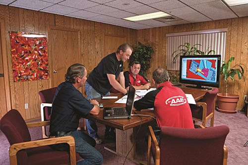Fisher, Nick Fisher, Pat Hodan, And Dan Fisher Review A Mold Design Review Of  A New Tool.